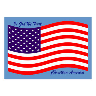 In God We Trust ~ Christian America Large Business Card