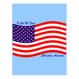 In God We Trust ~ Christian America Postcard