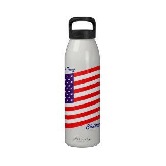 In God We Trust Christian America Water Bottles