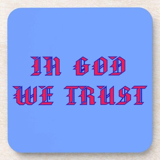 In God We Trust Coaster