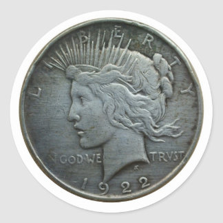 In GOD we trust - Coin of 1922 Round Stickers