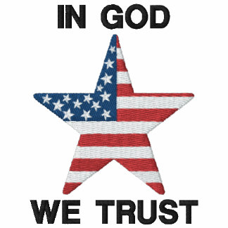 IN GOD WE TRUST MEN'S EMBROIDERED SHIRT