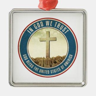 In God We Trust Metal Ornament
