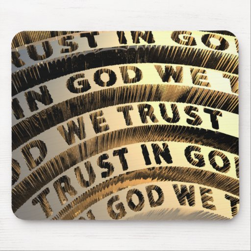 In God We Trust Mouse Pads