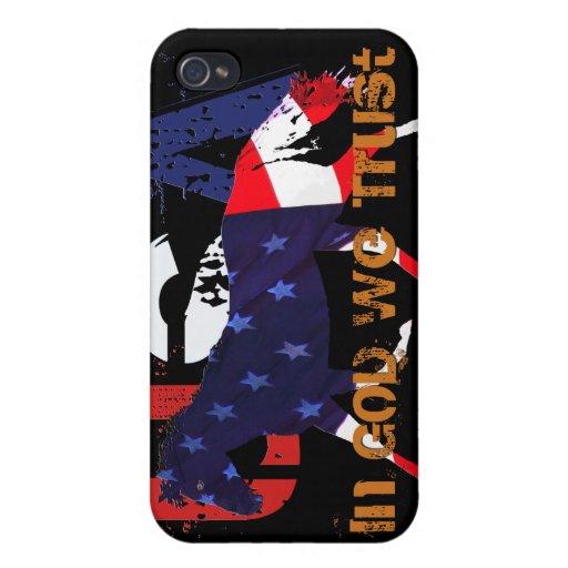 In God We Trust-Patriotic Horse iPhone 4 Case
