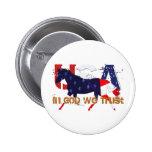 In God We Trust-Patriotic Horse Pinback Buttons