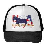 In God We Trust-Patriotic Horse Trucker Hat