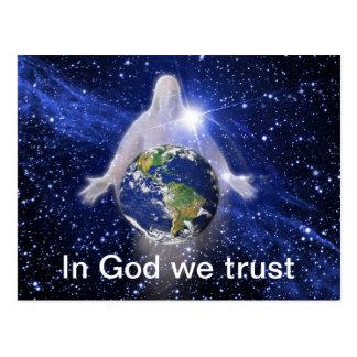 In God We Trust Postcard