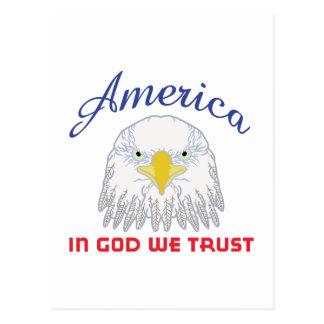 IN GOD WE TRUST POSTCARD