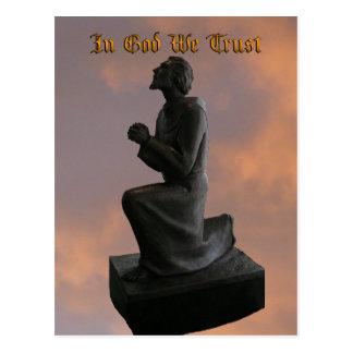 In God We Trust (princeval) Postcard