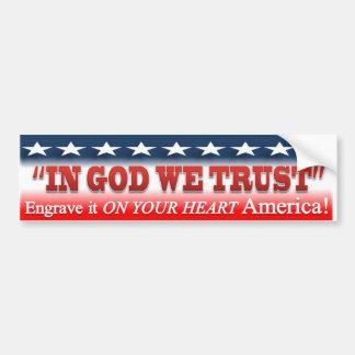 IN GOD WE TRUST sticker Car Bumper Sticker