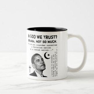 In God We Trust? Two-Tone Coffee Mug