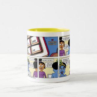 In God we trust! Two-Tone Coffee Mug