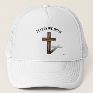 In God We Trust with rugged cross Trucker Hat