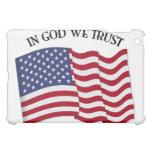 In God We Trust with US flag iPad Mini Cases