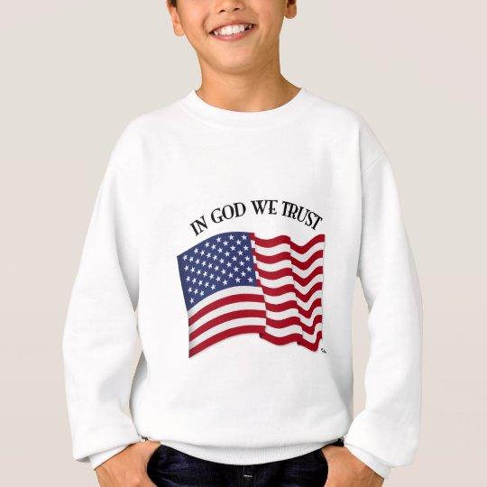 In God We Trust with US flag Sweatshirt