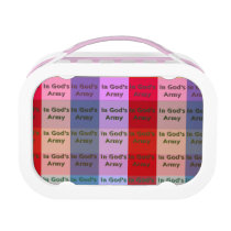 In God's Army Plaid Lunchbox