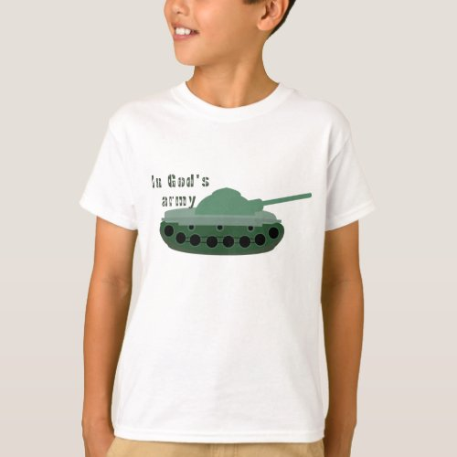 In God's Army (Tank) Kids' T-Shirt