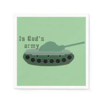 in God's army (tank) Napkin