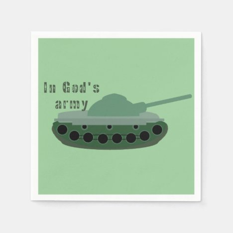 in God's army (tank) Napkins