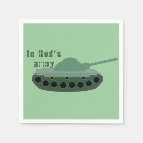 in God's army (tank) Napkins