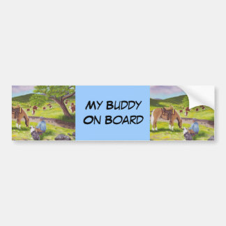 In Gods Country ~ Cowboy & Australian Shepherd Bumper Sticker