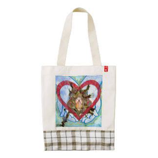 In God's Hands HEART Tote