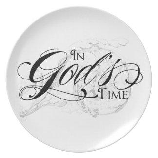 In God's Time Dinner Plates