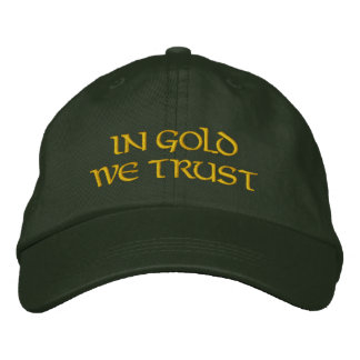 IN GOLD incoming goods TRUST (Spruce/gold) Embroidered Baseball Cap