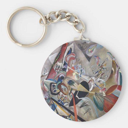 In Gray Basic Round Button Keychain