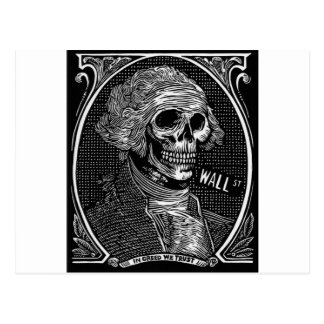In Greed We Trust Postcard