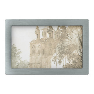 In Gustynia. A church of Sts. Peter and Paul. Rectangular Belt Buckle