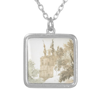 In Gustynia. A church of Sts. Peter and Paul. Square Pendant Necklace