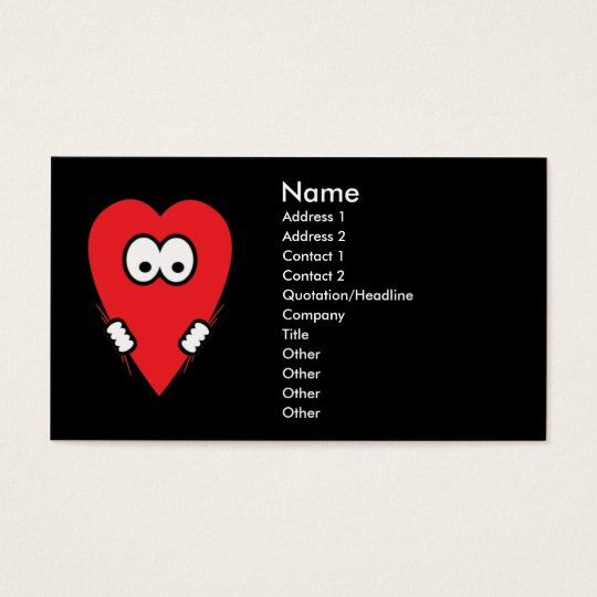 In Heart business cards