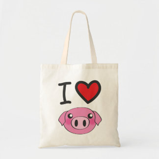 In heart piggy tote bag