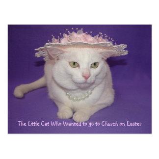 In her Easter Bonnet Postcard