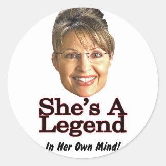 In her own mind classic round sticker