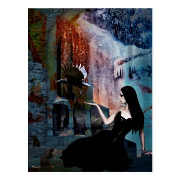 Halloween Themed IN HER SHADOW KINGDOM POSTCARD