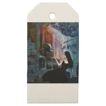 Halloween Themed IN HER SHADOW KINGDOM WOODEN GIFT TAGS