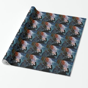 Halloween Themed IN HER SHADOW KINGDOM WRAPPING PAPER