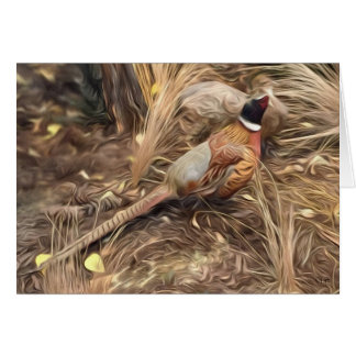 """In Hiding"" Nebraska Pheasants Greeting Cards"