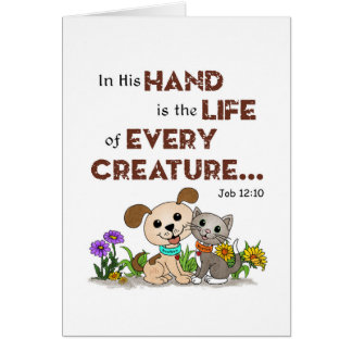 In His Hand ... (BowWow & MeeYow) Card