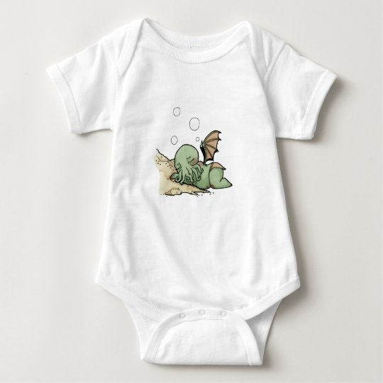 In his house at R'lyeh dead Cthulhu waits dreaming Baby Bodysuit
