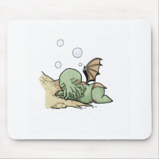In his house at R'lyeh dead Cthulhu waits dreaming Mouse Pad