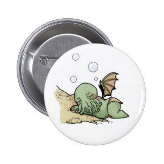 In his house at R'lyeh dead Cthulhu waits dreaming Pinback Button