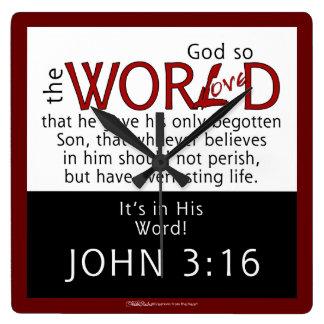 In His Word-John 3:16 Scripture Clock