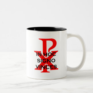 In Hoc Signo Vinces Two-Tone Coffee Mug