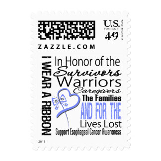In Honor Collage Esophageal Cancer Postage Stamps