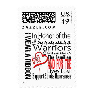 In Honor Collage Stroke Disease Postage Stamp