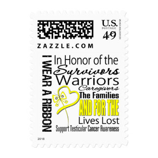 In Honor Collage Testicular Cancer Postage Stamp